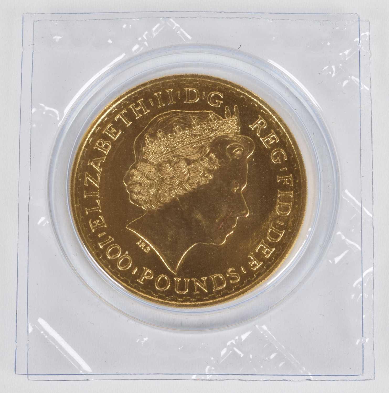 Lot 20-Queen Elizabeth II, 2013 Gold 1oz Britannia, 100 Pounds.