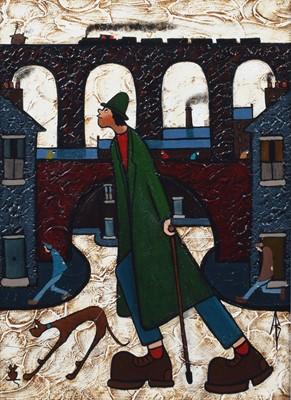 "Lot 91 - Albert Barlow (British 1944-), ""Happy As Larry"", acrylic."