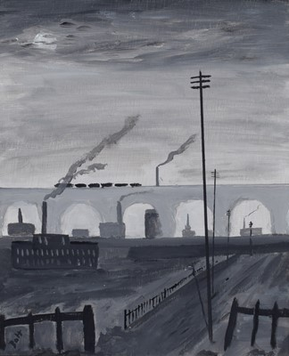 "Lot 96 - Vincent Dott, ""Stockport Viaduct"", oil."