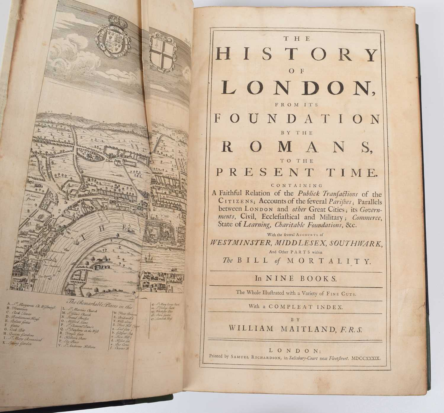 Lot 47-Maitland, W., History of London from its Foundation by Romans.
