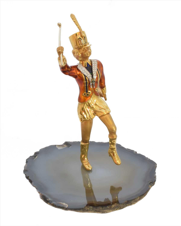 Lot 234 - An enamel and diamond model