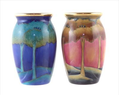 Lot 260 - Two Moorcroft Enamels vases