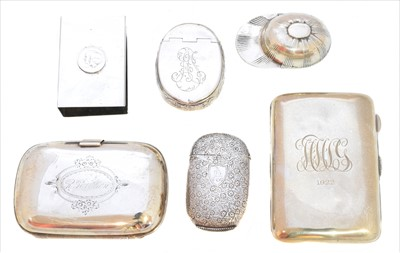 Lot 49-A selection of silver