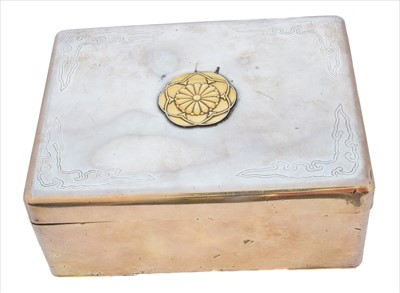 Lot 56-A Japanese silver box.