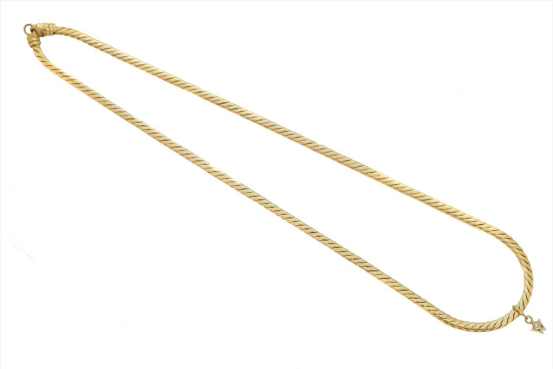 Lot 159-An 18ct gold diamond necklace by Wellendorff