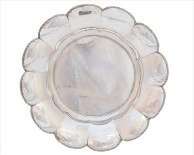 Lot 53-A George V silver bowl