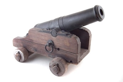 Lot 36-19th century bronze cannon