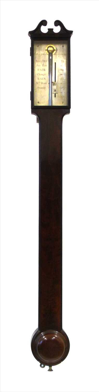 186 - Gilbert & Gilkerson, Tower Hill, London, stick barometer