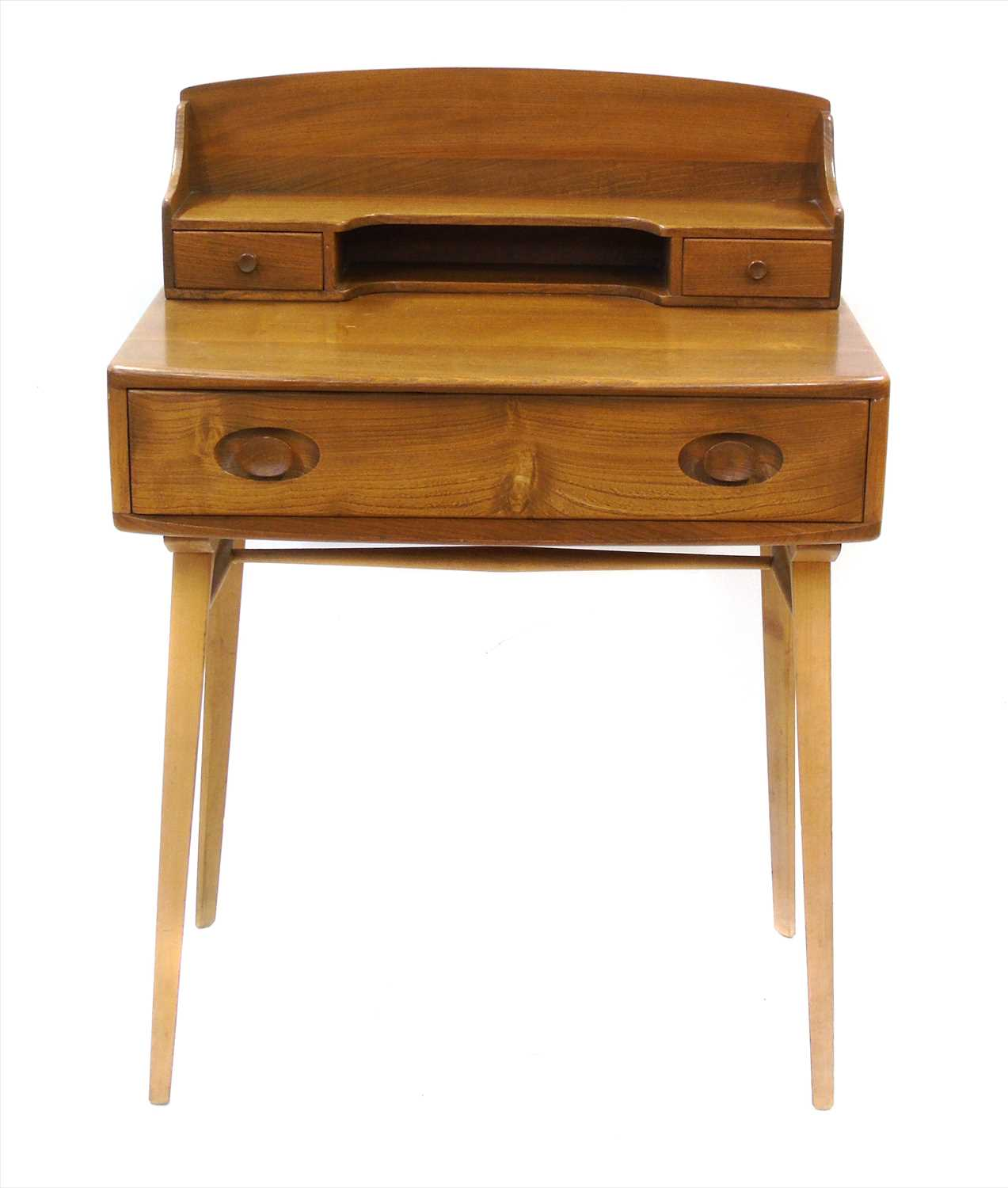 210 - Ercol ash and elm writing desk