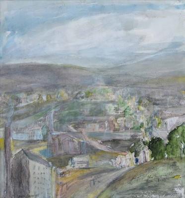 """Lot 98 - John Thompson, """"Saddleworth"""", watercolour."""