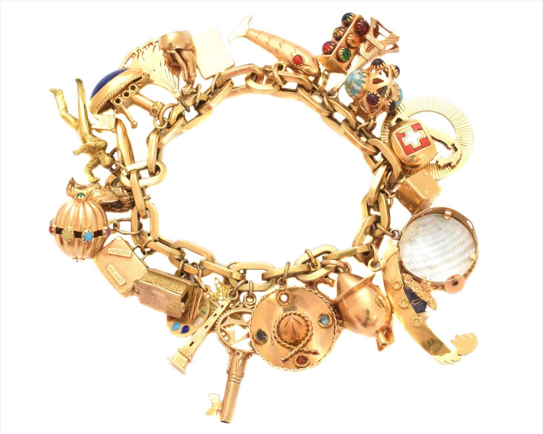 Lot 15 - A charm bracelet