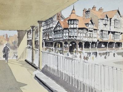 "Lot 99 - John Yardley ""Chester Rows"", watercolour."