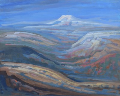 """Lot 12 - Mary Lord, """"Pen-Y-Ghent, Yorkshire"""", oil."""
