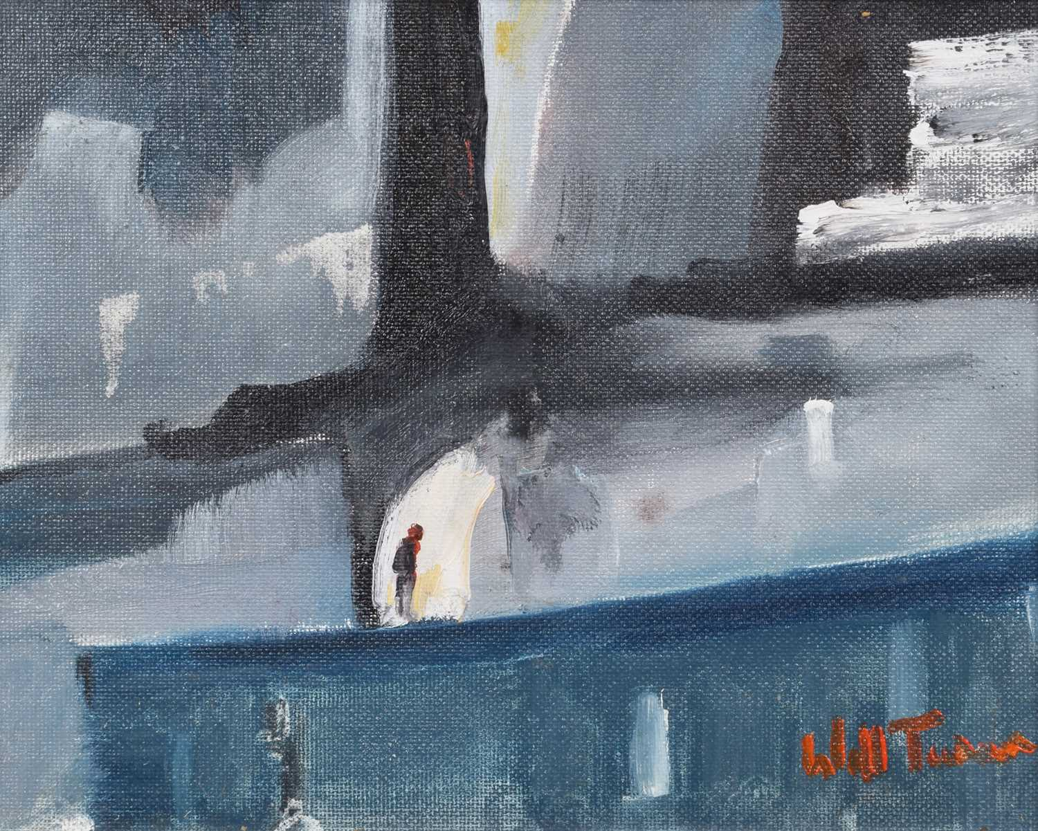 "Lot 13-William Turner, ""The Walk Home"", oil."