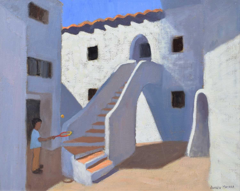 "Lot 26-Andrew Macara, ""Spanish Steps"", oil."