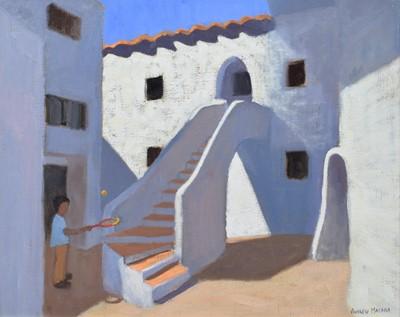 "Lot 26 - Andrew Macara, ""Spanish Steps"", oil."