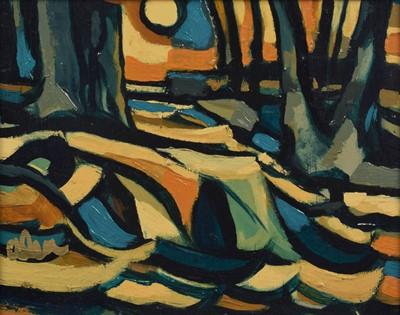 """Lot 29-Jamie O'Dea, """"Waterfall"""", oil on board."""