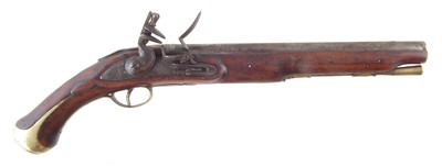 Lot 44-Reproduction flintlock sea service pistol