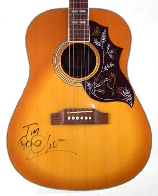 Lot 62 - Martin Kemp (Spandau Ballet) autographed Hummingbird copy acoustic guitar