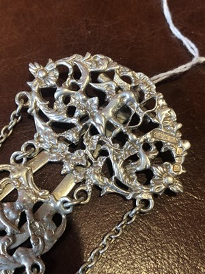 Lot 21-A late Victorian silver chatelaine