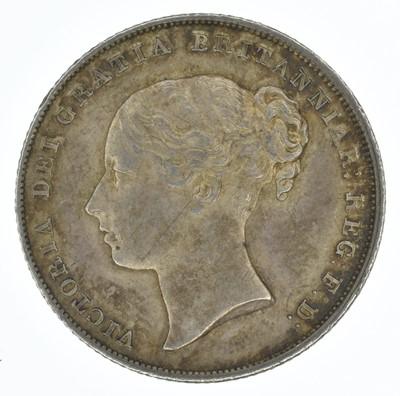 Lot 53-Queen Victoria, Shilling, 1842, EF.