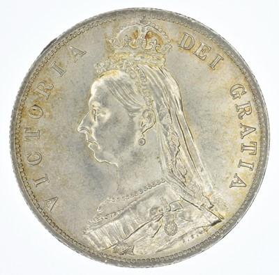 Lot 58-Queen Victoria, Halfcrown, 1888, aUNC.
