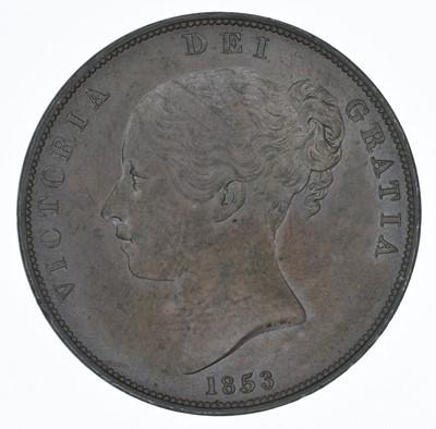 Lot 61-Queen Victoria, Penny, 1853, gEF.