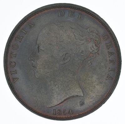 Lot 62-Queen Victoria, Penny, 1854, gVF.