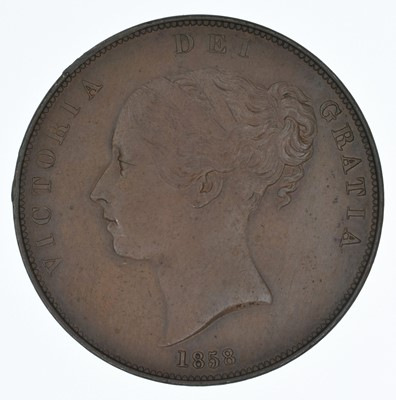 Lot 63-Queen Victoria, Penny, 1858, gEF.