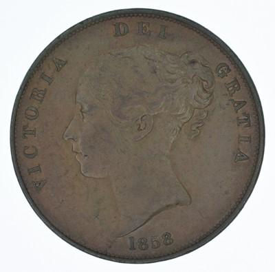 Lot 64-Queen Victoria, Penny, 1858, aEF.
