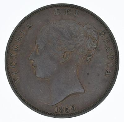 Lot 65-Queen Victoria, Penny, 1859, aEF.