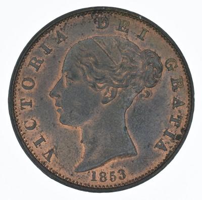 Lot 66-Queen Victoria, Halfpenny, 1853, gEF.