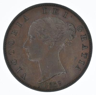 Lot 67-Queen Victoria, Halfpenny, 1859, gEF.