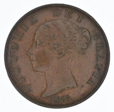 Lot 68-Queen Victoria, Halfpenny, 1855, gEF.