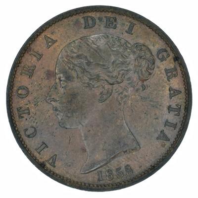 Lot 63 - Queen Victoria, Halfpenny, 1855, gEF.