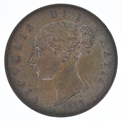 Lot 71-Queen Victoria, Halfpenny, 1853, gEF.
