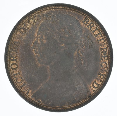 Lot 72-Queen Victoria, Penny, 1891 and 1901, EF and BU (2).