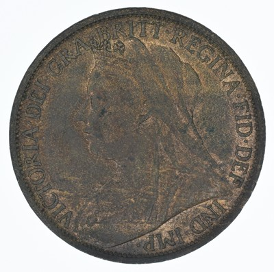 Lot 73-Queen Victoria, Pennies, 1896 and 1901, both aBU (2).