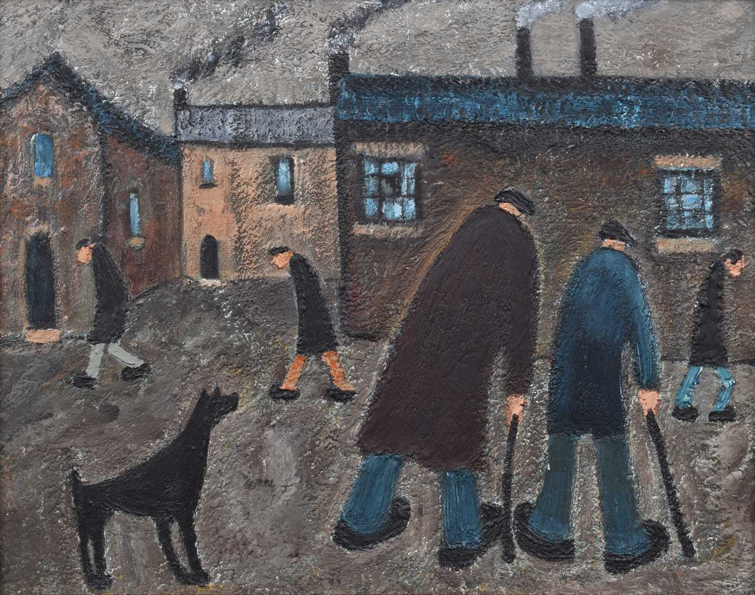 """Lot 35-Albert Barlow, """"Time We Get There They'll Be Closed"""", acrylic."""