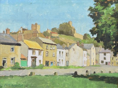 Lot 40 - Millicent Ayrton R.Cam.A., M.B.E. (British 1913-2000), Village scene, oil.