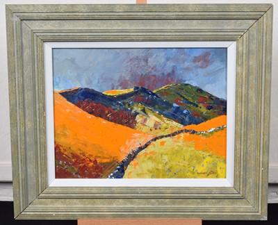 "Lot 42-Richard Clare, ""Mam Tor, Derbyshire"", acrylic."