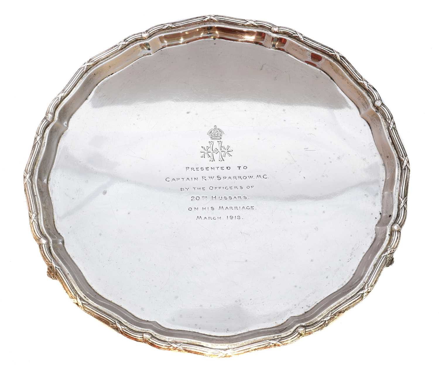 Lot 26-A George V silver salver