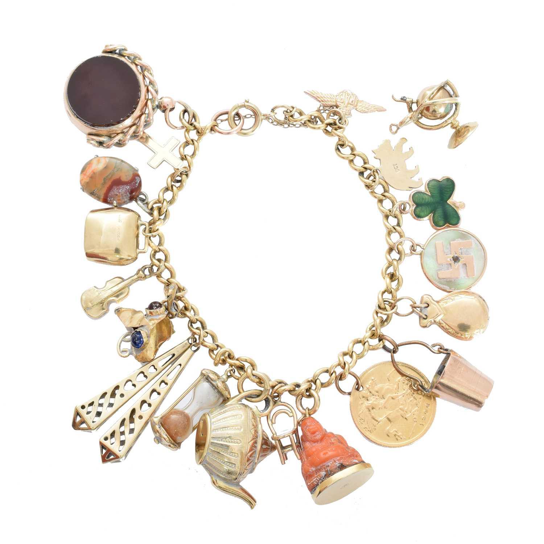 Lot 2-A charm bracelet