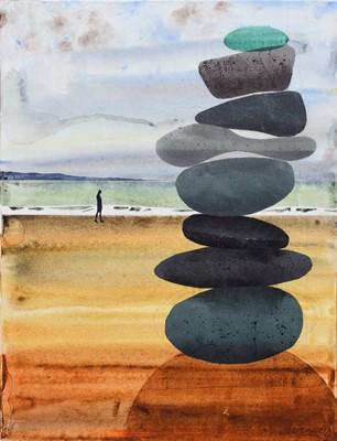 "Lot 105 - Nicholas Ferenczy, ""Seaglass #1"", acrylic."