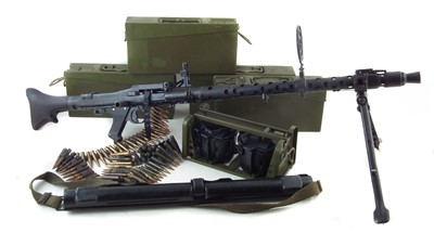 Lot 41-Deactivated German MG34 with accessories