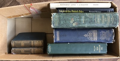 Lot 35-A collection of 19th and 20th century books relating to butterflies and moths in Europe by Kirby W.F