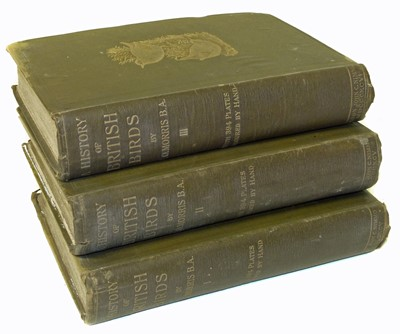 Lot 32-Morris F.O History of British Birds three volume set, fourth edition