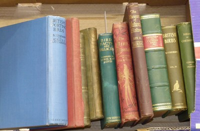 Lot 29-Ten antiquarian bird books to include