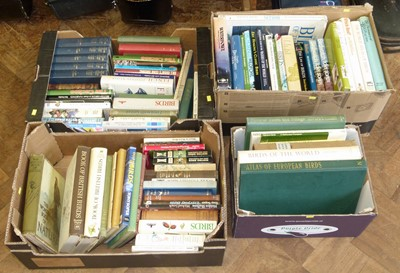 Lot 30-Four boxes of books on birds, bird watching and related subjects (84 volumes)