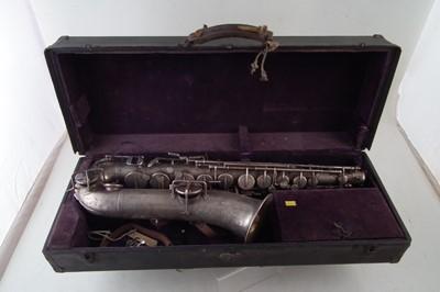 Lot 35-Buescher saxophone in case